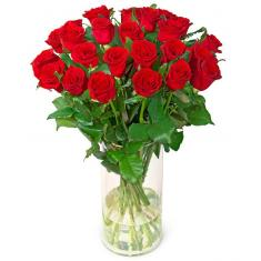 "Bouquet ""25 Red roses in a vase"""