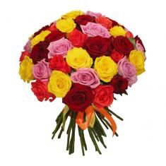 "Bouquet ""51 Multi-Colored Rose"""