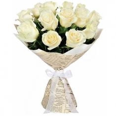 "Bouquet ""13 White roses"""
