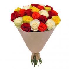"Bouquet ""21 Colored roses"""