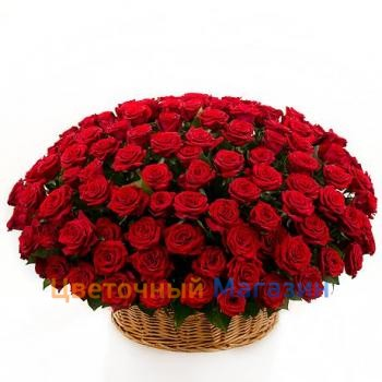 "Basket ""201 red roses"""