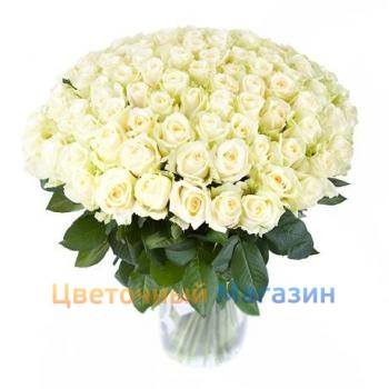 "Bouquet ""101 White Rose"""