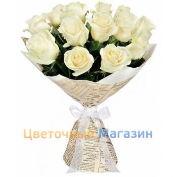 "Bouquet ""13 White roses""Bouquet ""13 White roses"""