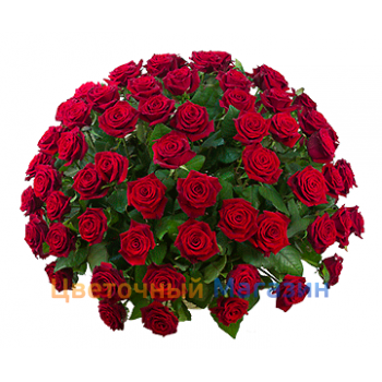 "Basket ""101 red rose""Basket ""101 red rose"""